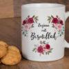 Beginne mit Bismillah Tasse Rote Rosa Rosen